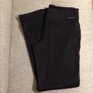 NWT Eddie Bauer long fleece black pants, size M